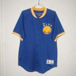 Mitchell and Ness Golden state mesh top - large